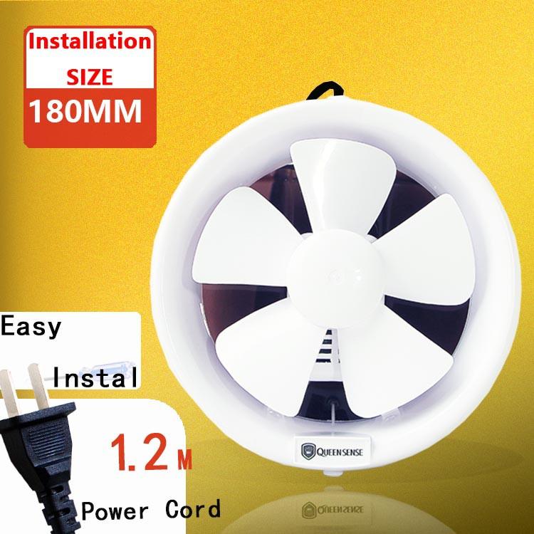 6 inch kitchen bathroom glass window mount wall ventilation exhaust fan 180mm