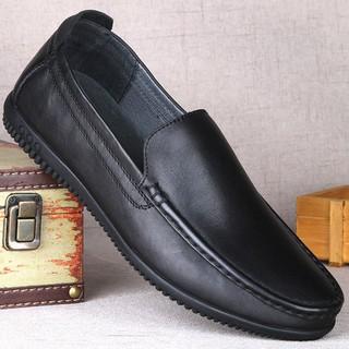 Fashion Man's Business Office Shoes Comfy Leather Men's Lazy Shoes Peas ShoesBrnoBani真皮豆豆鞋秋冬一腳蹬商務潮鞋休閑皮鞋男 ...