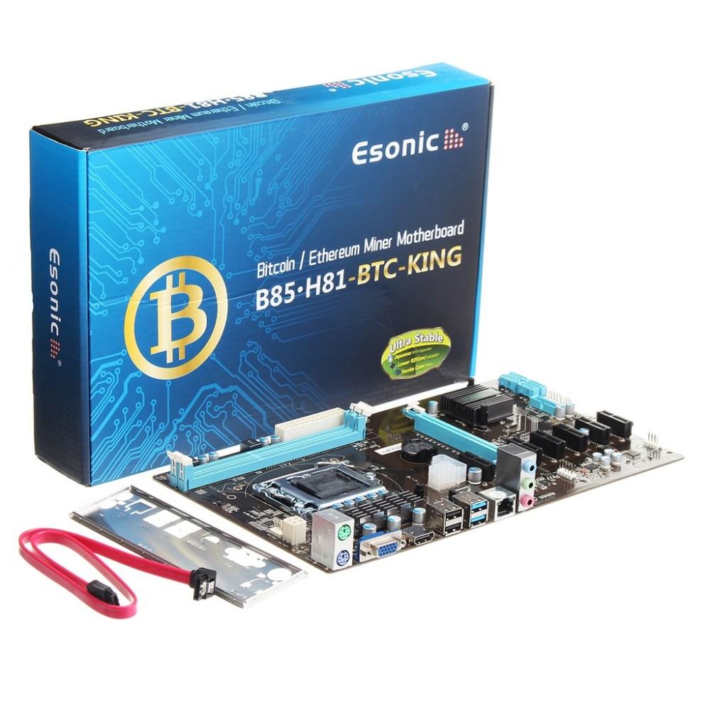 medium resolution of 7 gpu lga 1150 b85 btc 6 pcie sata mining motherboard for eth bitcoin miners shopee malaysia
