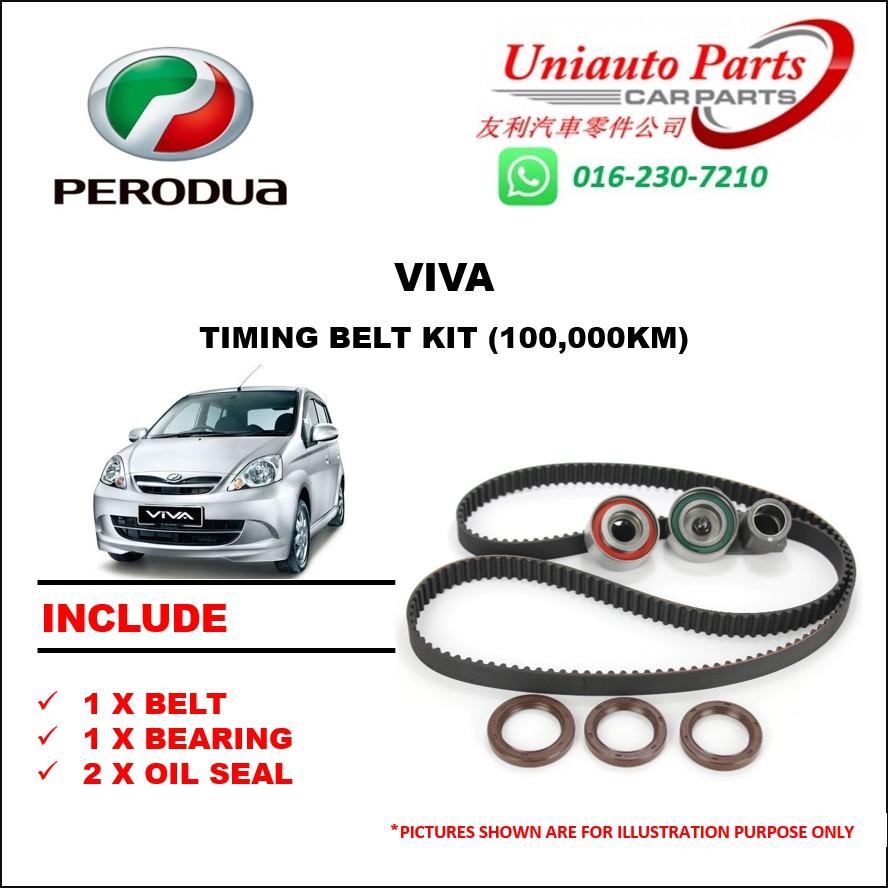 hight resolution of perodua viva myvi 1 0 daihatsu timing belt set water pump belting set shopee malaysia