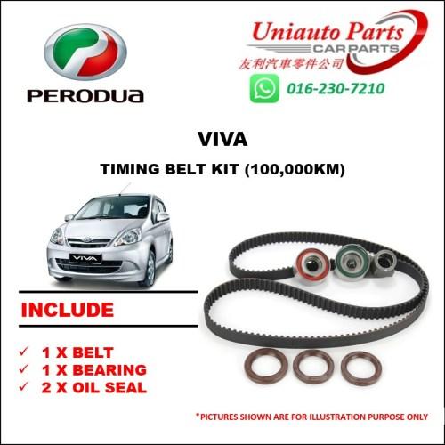 small resolution of perodua viva myvi 1 0 daihatsu timing belt set water pump belting set shopee malaysia