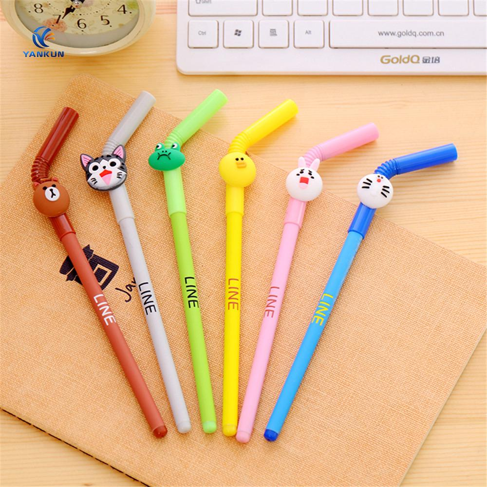 creative animal design straw