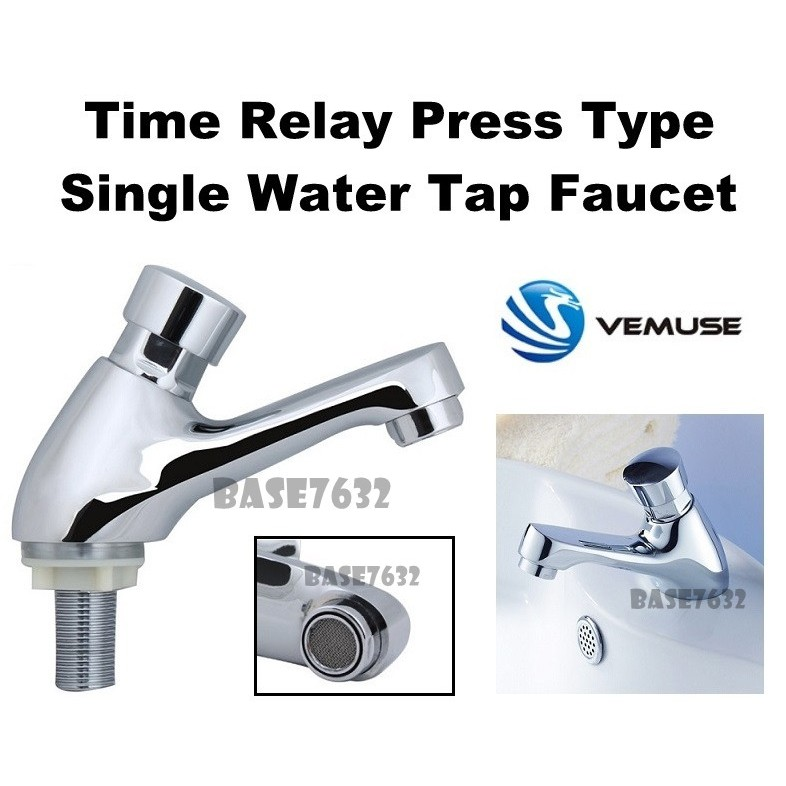time delay automatic press self closing single water tap basin faucet 2213 1