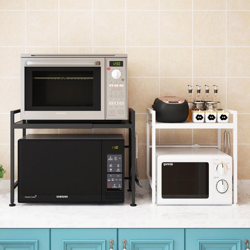 readystock retractable oven microwave oven rack 2 layer kitchen kitchen rack storage rack ikea shelf