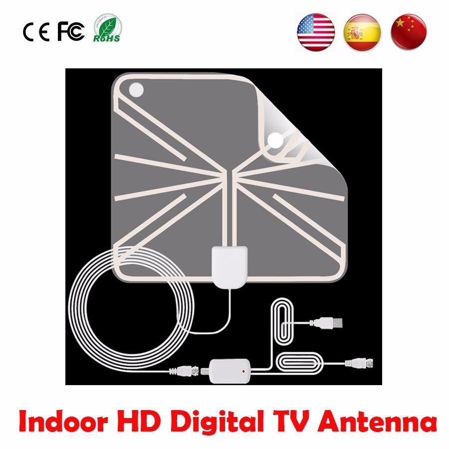 hight resolution of 50 miles digital indoor tv antenna hd fox tvfox antena receiver hdtv analog aerial clear signal antenna shopee malaysia