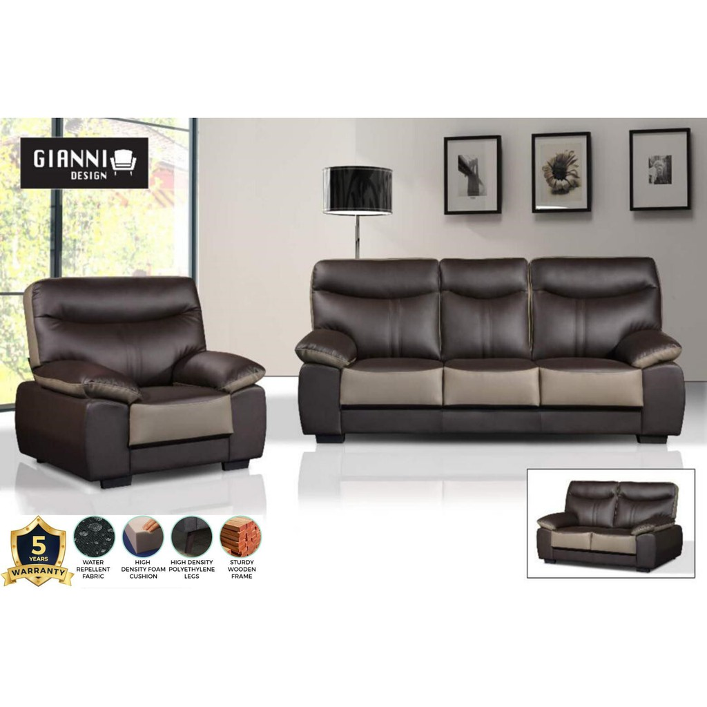 Cathy Casa Leather Sofa 3 2 1 Shopee Malaysia