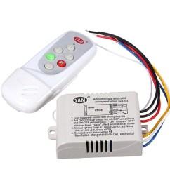 yam ac 220v wireless light lamp digital switch with remote control white yam 083 3 way shopee malaysia [ 1024 x 1024 Pixel ]