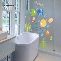 √Wn Bathroom Cartoon Fish Wallpaper Baby Kids Room Decal Art Wall Sticker Decor Shopee Malaysia