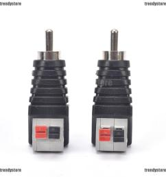 new 2pcs speaker wire a v cable to audio male rca connector adapter jack press plug shopee malaysia [ 1002 x 1002 Pixel ]