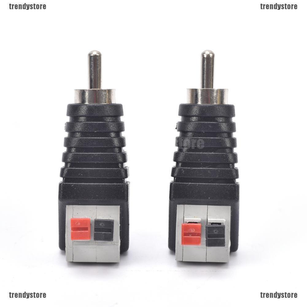 medium resolution of new 2pcs speaker wire a v cable to audio male rca connector adapter jack press plug shopee malaysia