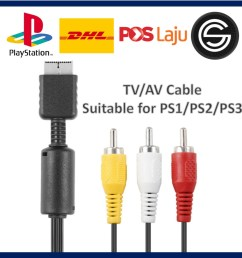 1 8m component cable hd av audio 5rca for sony ps2 ps3 playstation practical shopee malaysia [ 1024 x 1024 Pixel ]