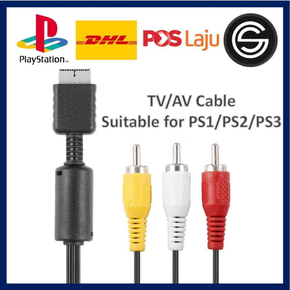 medium resolution of 1 8m component cable hd av audio 5rca for sony ps2 ps3 playstation practical shopee malaysia