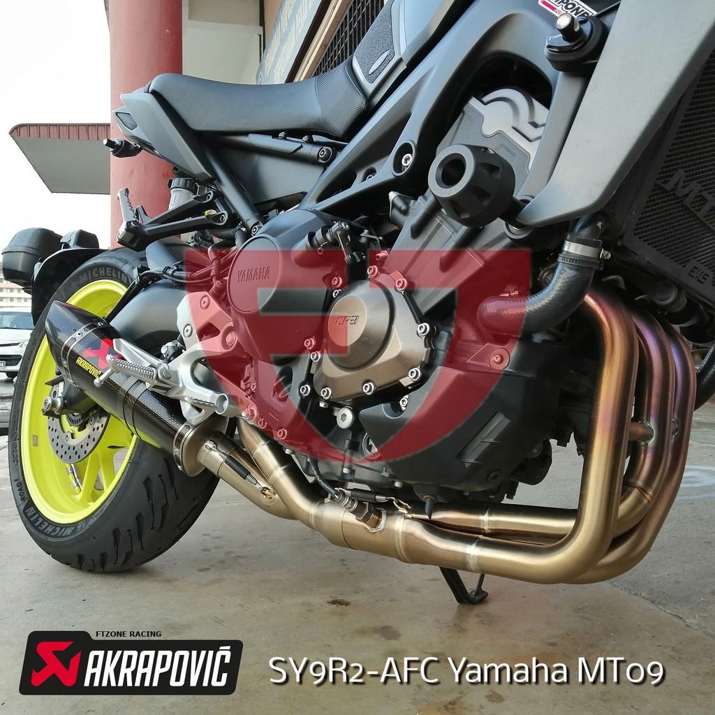 yamaha mt09 akrapovic racing line carbon exhaust