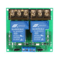2 channel dc 5v 30a relay board module optocoupler isolation high low trigger shopee malaysia [ 1000 x 1000 Pixel ]