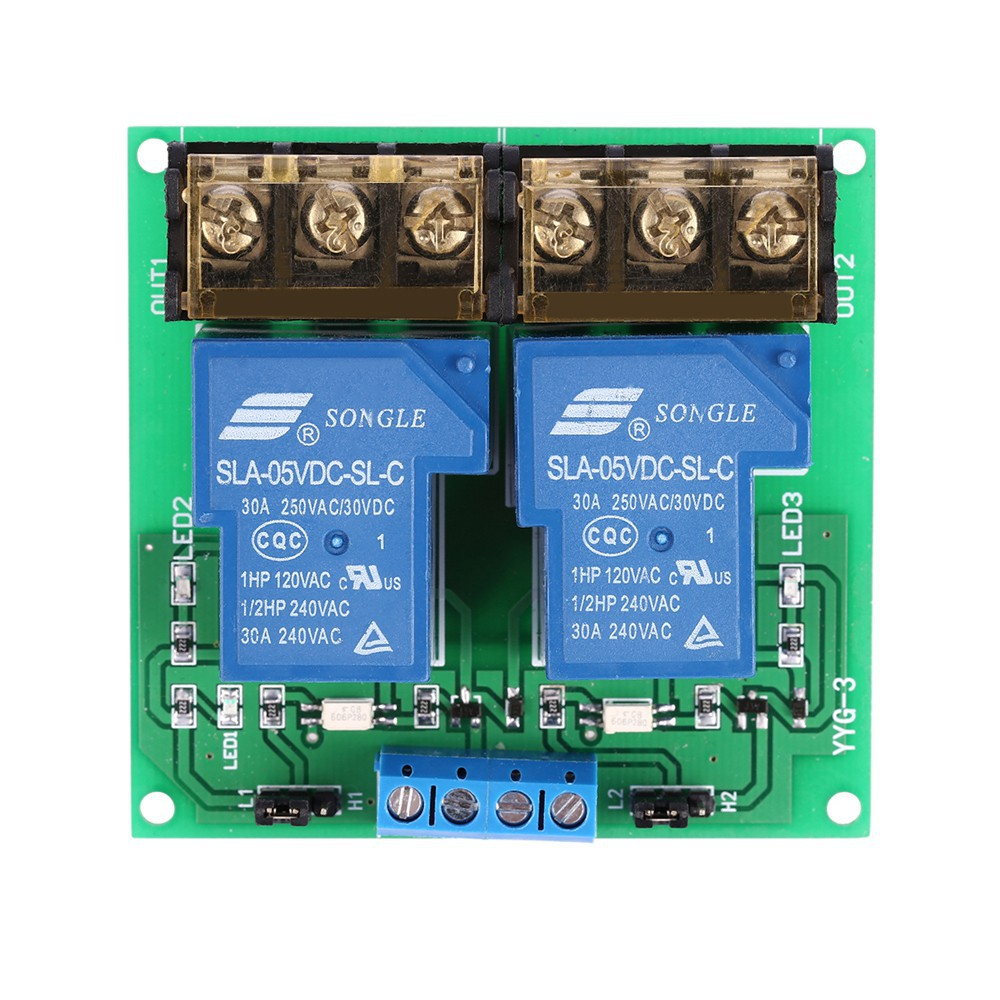hight resolution of 2 channel dc 5v 30a relay board module optocoupler isolation high low trigger shopee malaysia