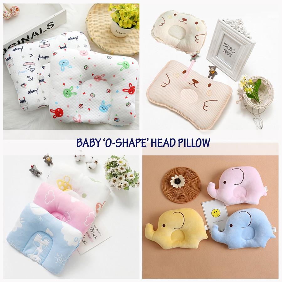 newborn baby cotton breathable head o shape baby pillow baby gift anti flat head shaping bantal baby cushion protector