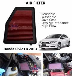 works simota washable drop in air filter honda integra dc5 2 0 type r 01 05 shopee malaysia [ 999 x 999 Pixel ]