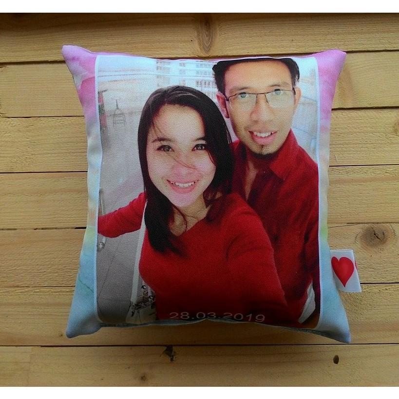print your photo deco gift pillow 20cm x 20cm