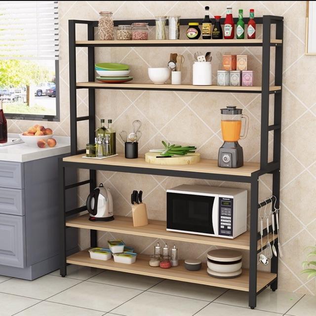 nordic scandinavian kitchen island microwave oven rack multi layer storage rack cutting table bar cabinet