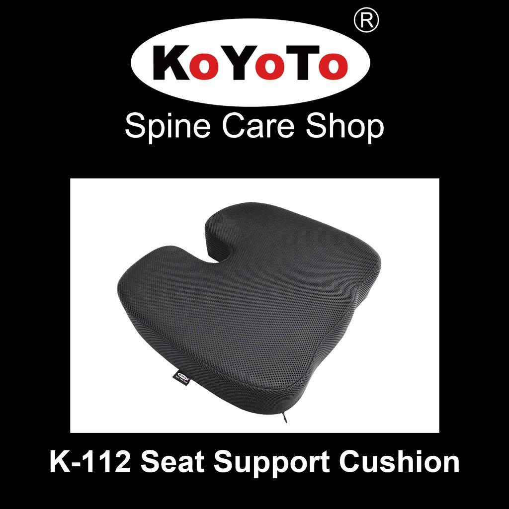 koyoto k 112 seat support cushion memory foam pillow coccyx orthopedic sciatica tailbone hemorrhoid back pain relief