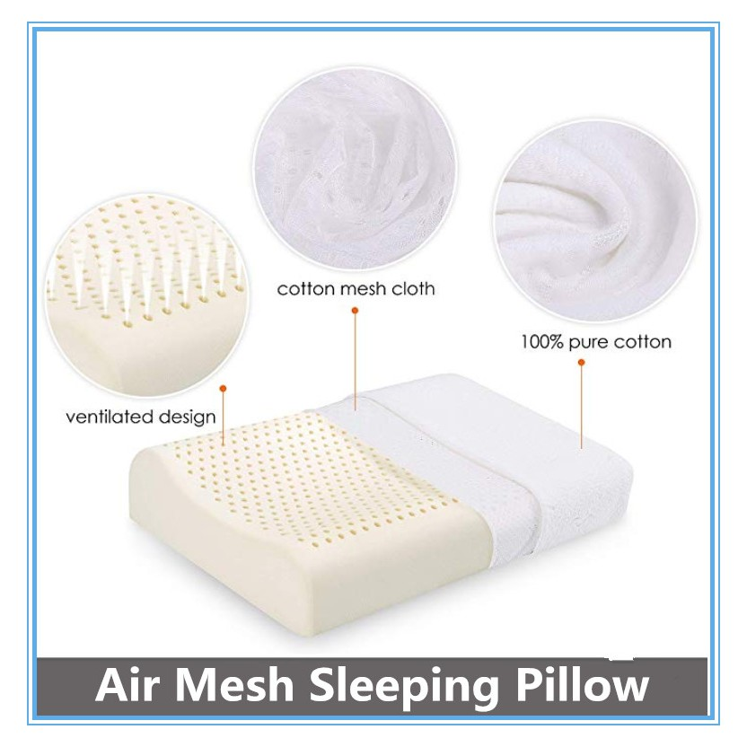 natural latex pillows for sleeping cool breathable neck support foam pillow ergonomic contour cervical pillow for neck