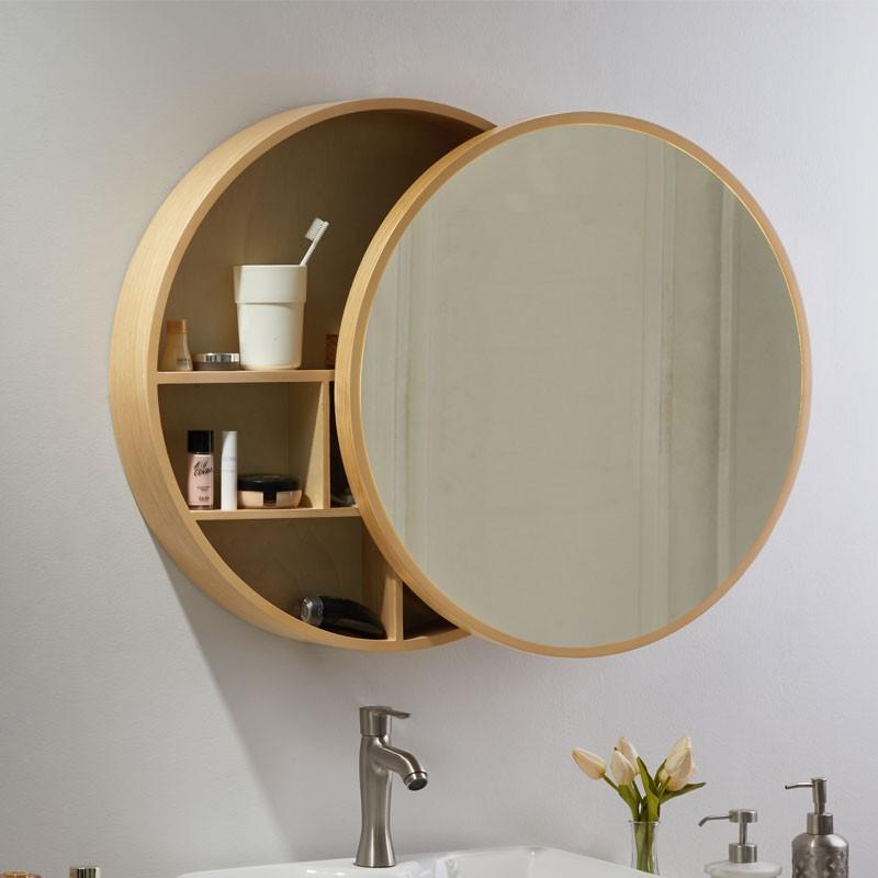 Mirrors Bathroom Mirrors Quli Shiwood Bathroom Mirror Cabinet Washroom Dressing With Frame Hanging Wall Style Shopee Malaysia