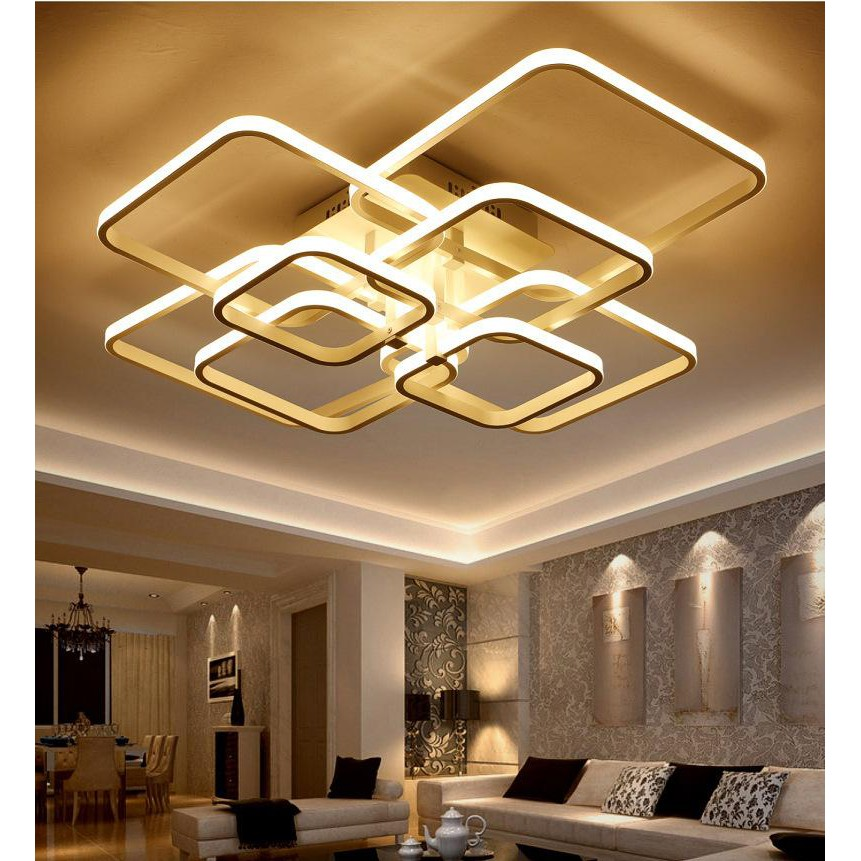 Remote Dimming Modern Led Ceiling Light Stepless Dimming Style Dining Room Living Room Bedroom Lights Shopee Malaysia