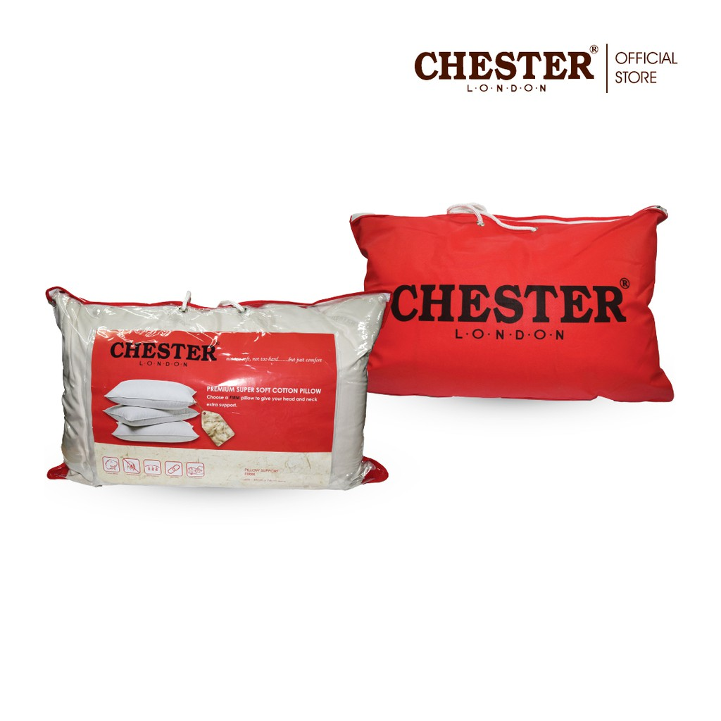 chester london premium super soft cotton pillow bantal hotel firm 1pc