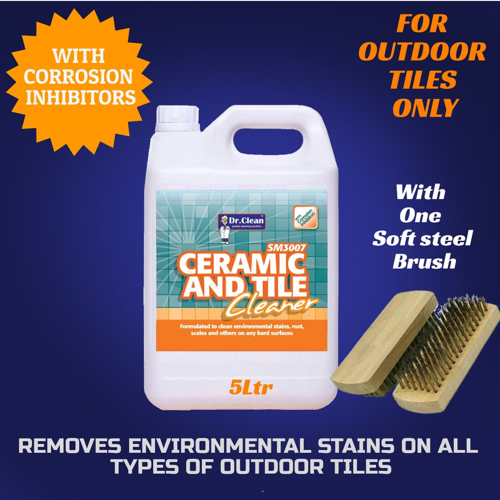 outdoor tile cleaner flower pot stain remover environmental stains remover dr clean 5 with soft steel brush