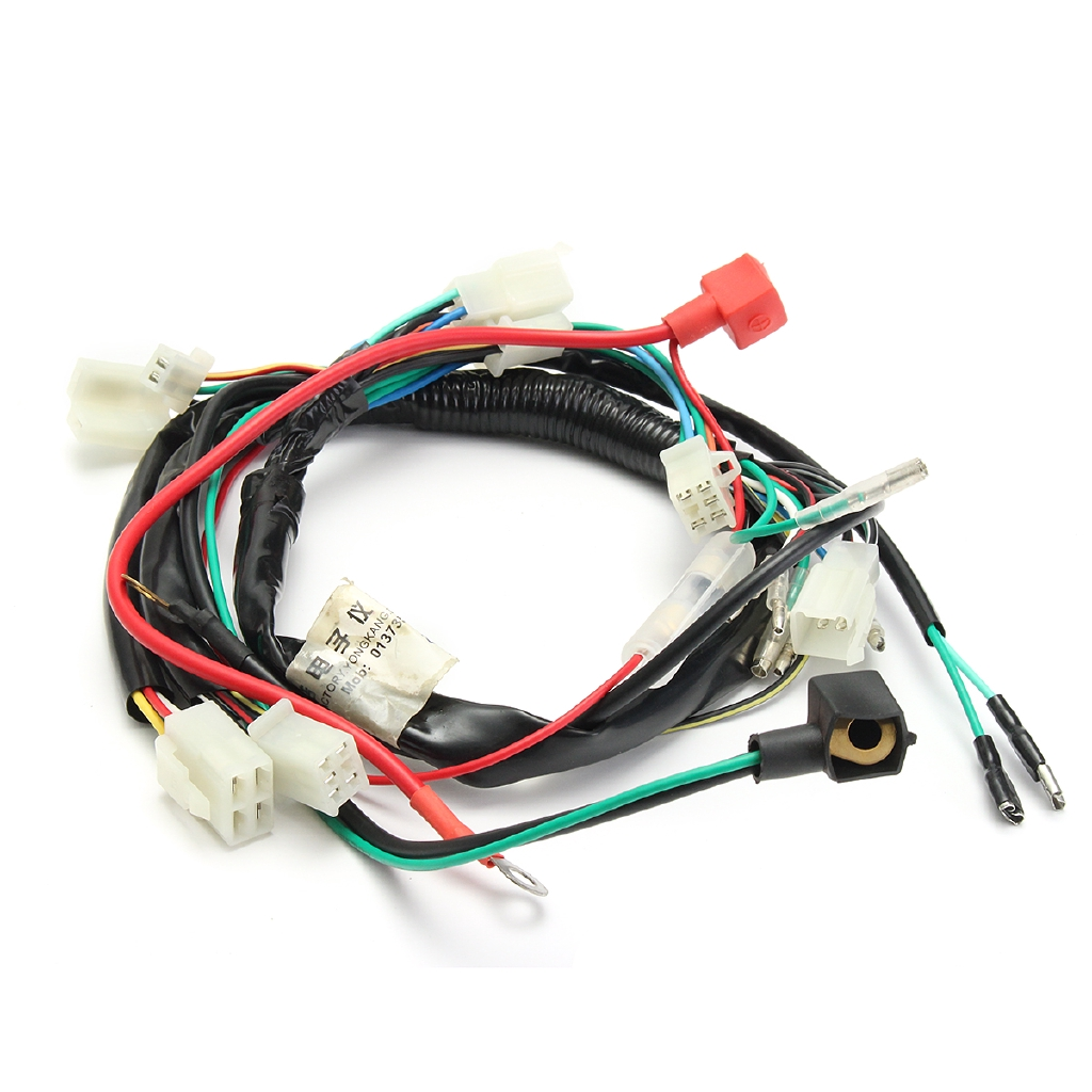 hight resolution of complete electric start engine wiring harness loom for quad bike atv dune buggy shopee malaysia
