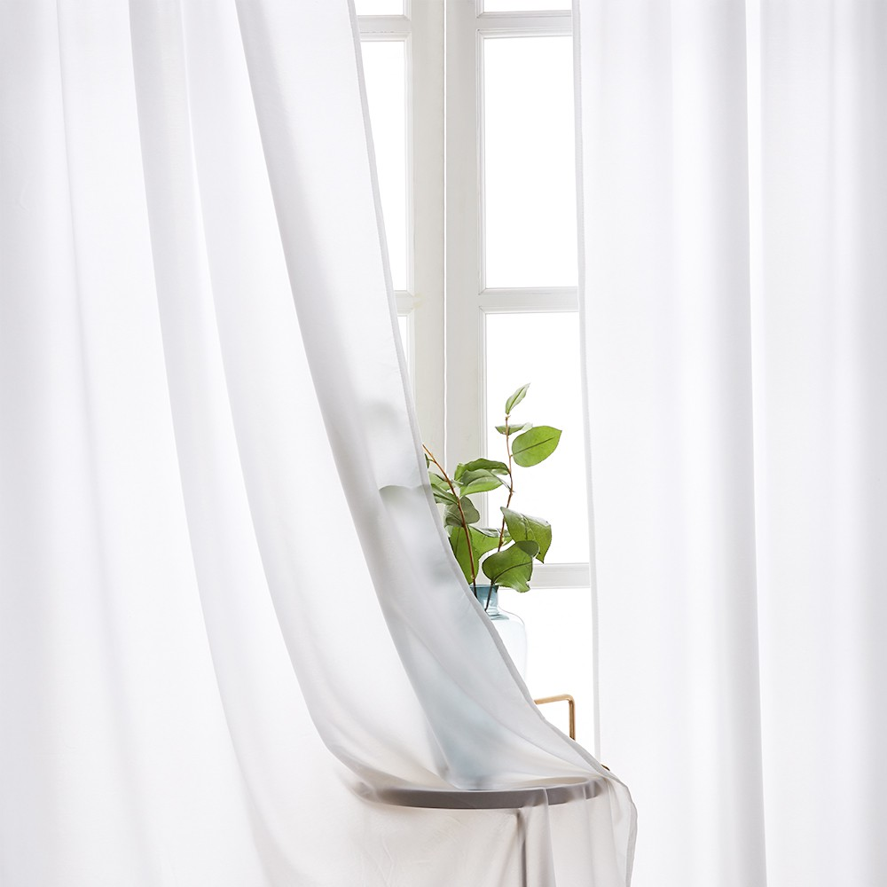half shading sheer curtain for living room bedroom tulle curtain voile window screen floats opaque white curtain decor