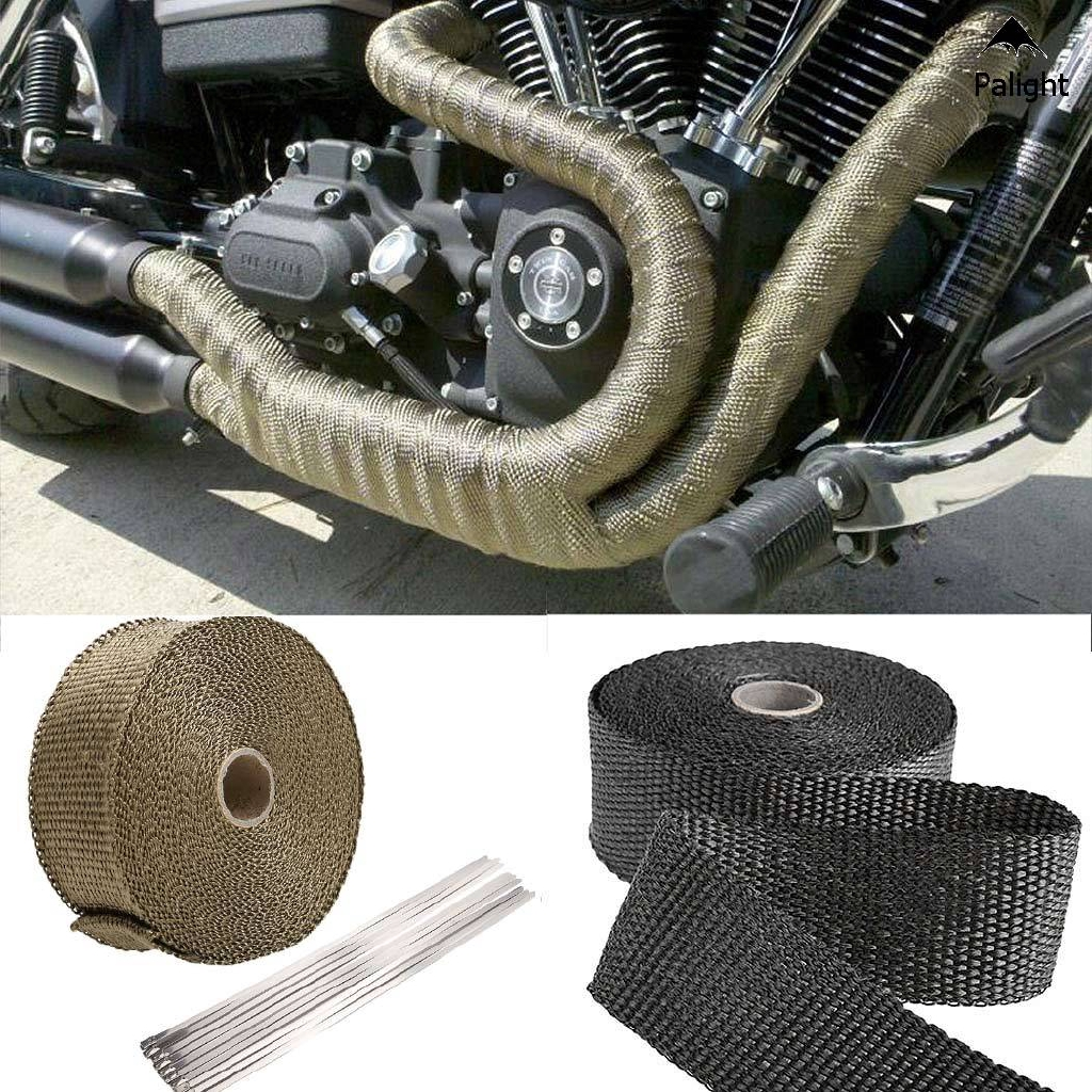 temp exhaust heat wrap resistant downpipe car motorcycle tape hot sell