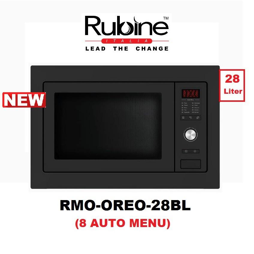 rubine built in microwave oven rmo oreo 28bl