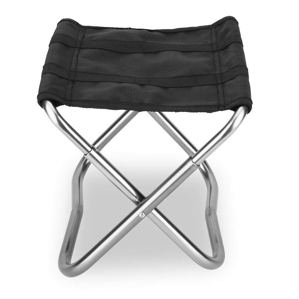 Folding Sleeping Chair Camping Seat Outdoor Alloy Aluminum Fishing Folding Stool Chair Portable