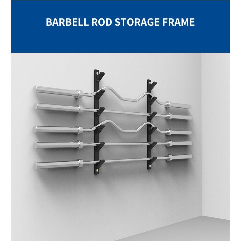 wall mounted barbell rack 3 6 10 tier storage holder bar gun rack rod frame