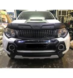 isuzu d max 2016 idf 050 front bumper guard silver black shopee malaysia [ 1024 x 1024 Pixel ]