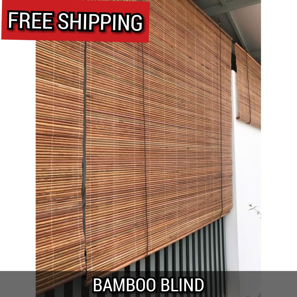 bamboo blinds w x h outdoor natural bidai buluh