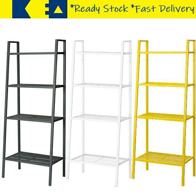 ikea lerberg steel 4 tier small large multipurpose rack kitchen d i y rack school book shelf rak serbaguna