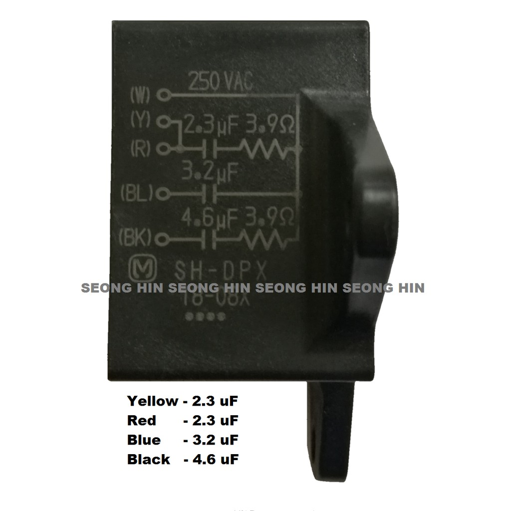 hight resolution of ceiling fan capacitor 2 3uf 2 3uf 3 2uf 4 6 uf 4 wires 250 vac