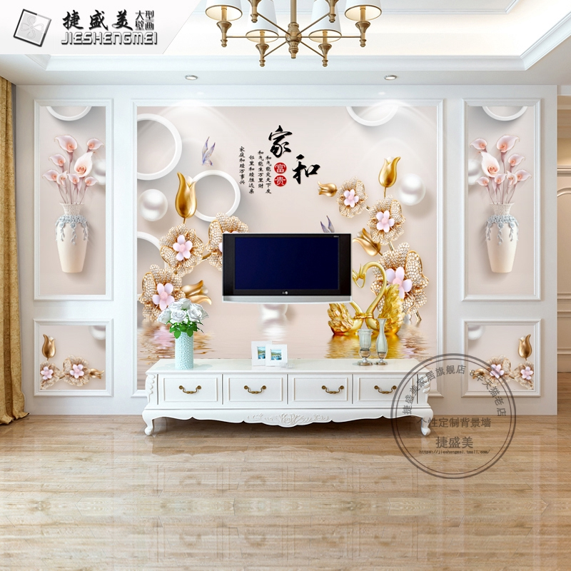 8d Tv Background Wall Paper 5d European Style Living Room 3d Three Dimensional Wallpaper Mural Simple Bedroom Decora Shopee Malaysia