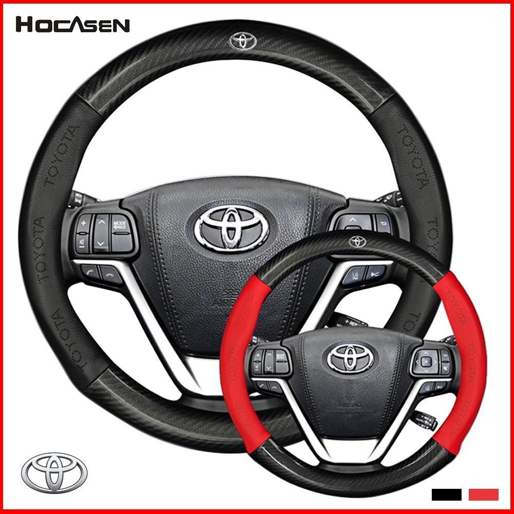 hight resolution of toyota steering wheel cover new fit carbon vios altis camry mpv avanza chr hilux shopee malaysia