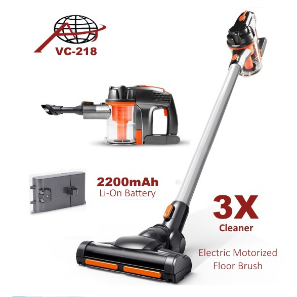 aj vc 218 cordless handheld vacuum cleaner inspired by dyson