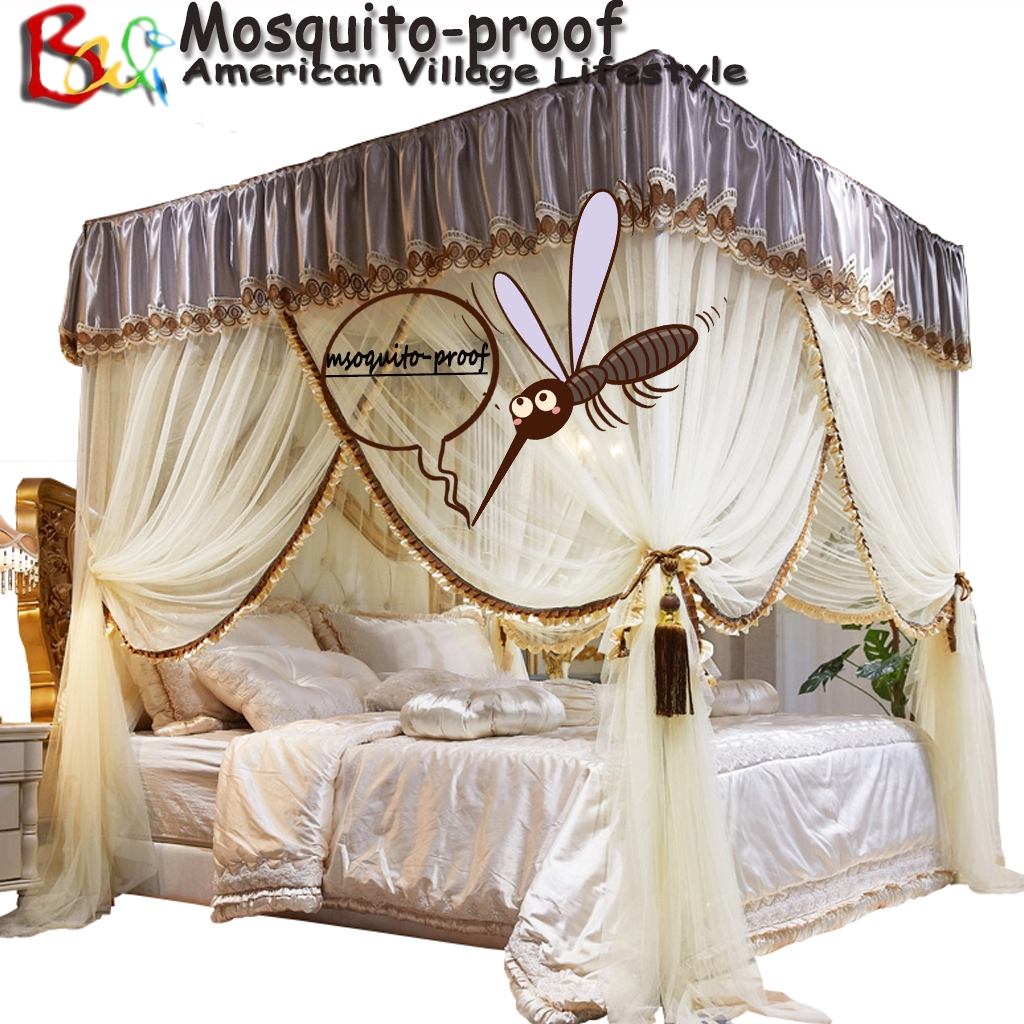 student mosquito net for queen king size bed princess bed curtain with dust proof roof cloth shading