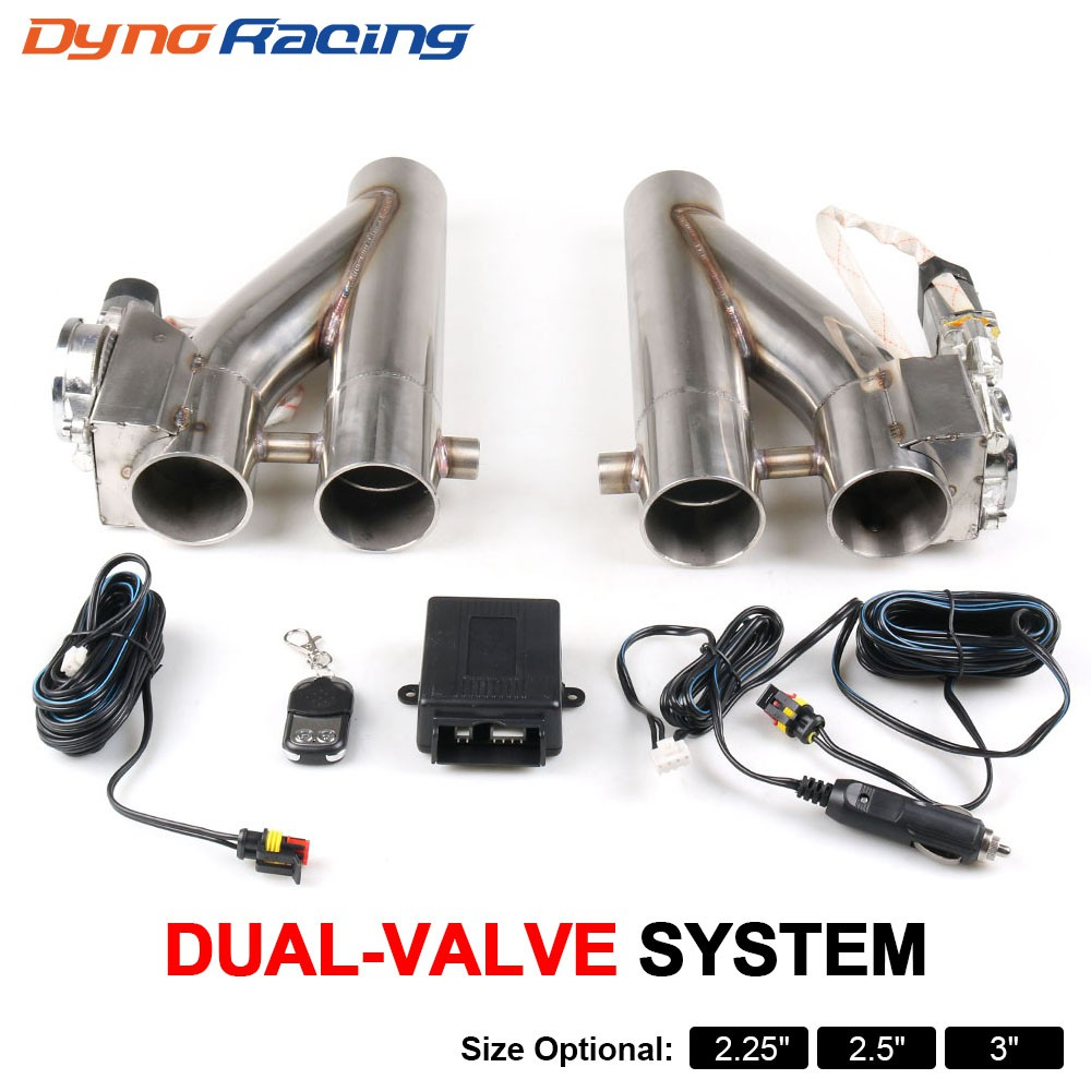 2 25 2 5 3 double electric exhaust cutout kit y pipe exhaust control valve with dual valve 1 drag 2 remote control