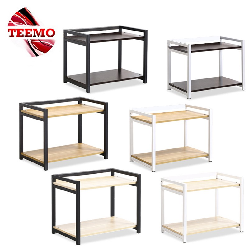 ready stock teemo 2 layer kitchen microwave oven rack shelving rack oven rack spice rack storage
