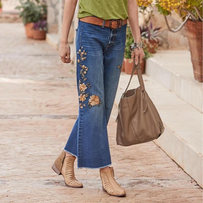 women korean Pants High waist Jeans Palazo Pants Denim Long Pant Trousers   Shopee Malaysia