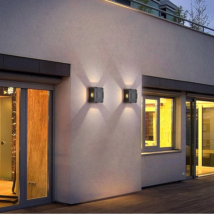 exterior wall light led simple modern outdoor wall light waterproof door light