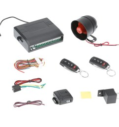 dom universal car alarm system with flip key remote control central door lock shopee malaysia [ 1001 x 1001 Pixel ]