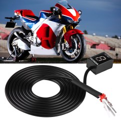 motorcycle ecu plug mount 6 speed digital gear indicator display for honda cb400f cb500x cb650f shopee malaysia [ 1001 x 1001 Pixel ]