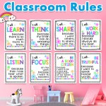 20pcs Set Learn English Children A4 Plastic Card Classroom Rules Kindergarten Early Education Classroom Decoration Wall Stickers Shopee Malaysia